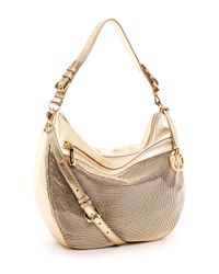 MICHAEL Michael Kors | Metallic Mesh Convertible Shoulder Bag | Lyst