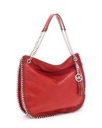 MICHAEL Michael Kors | Brown Large Chelsea Shoulder Bag, Red | Lyst