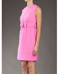 MILLY Pink Vivi Rhinestone Dress