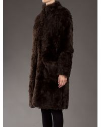 Opening Ceremony Brown Faux Fur Coat