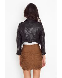 Nasty Gal | Brown Draped Fringe Silk Skirt - Cocoa | Lyst