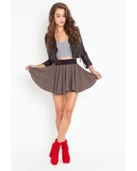 Nasty Gal - Brown Parker Pleated Skirt - Lyst