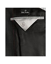 Paul Smith | Gray Grey Micro Check Wool 3-button Blazer for Men | Lyst