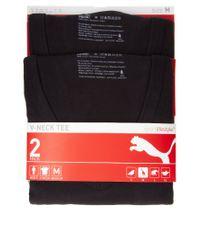 PUMA - Black 2 Pack Crew Neck T Shirts for Men - Lyst