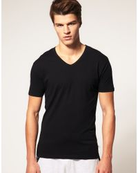 PUMA | Black 2 Pack V Neck T Shirts for Men | Lyst