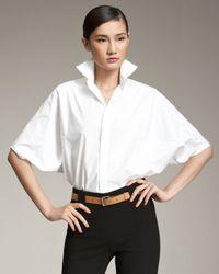 Ralph Lauren Black Label | White Kimono-sleeve Blouse | Lyst