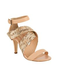 Rebecca Minkoff | Natural Leather Bombshell Wraparound Sandals | Lyst