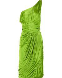 Zac Posen | Green Draped One-shoulder Jersey Dress | Lyst