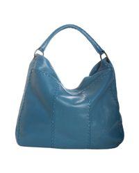 Bottega Veneta - Blue Empire Leather Intrecciato Detail Large Hobo - Lyst
