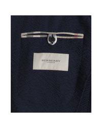 Burberry | London Blue Wool Blend Seersucker 3 Button Blazer for Men | Lyst