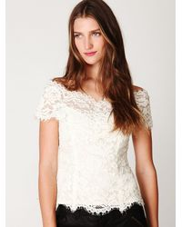 Free People | White Porcelain Lace Off The Shoulder Top | Lyst
