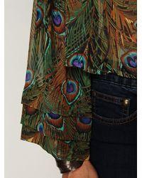 Free People - Blue Mumu Peacock Bell Sleeve - Lyst