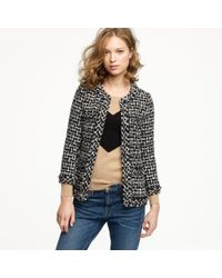 J.Crew | Gray Cherie Jacket In Shimmer Tweed | Lyst