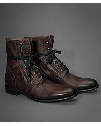 John Varvatos Brown Ago Side Zip Boot for men