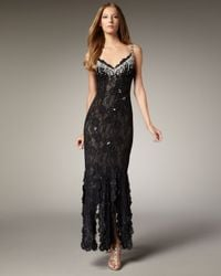 Julian Joyce By Mandalay | Black Beaded Lace Gown | Lyst