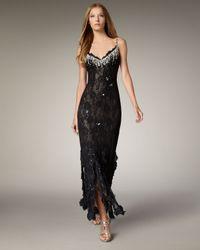 Julian Joyce By Mandalay - Black Beaded Lace Gown - Lyst