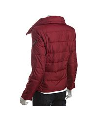 Marc New York - Red Crimson Quilted Asymmetrical Down Jacket - Lyst