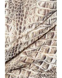 Melissa Odabash - Gray Arizona Crocodile-print Swimsuit - Lyst