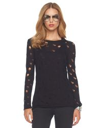 Michael Kors | Black Drop-stitch Sweater | Lyst