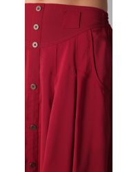 MINKPINK - Red Great Expectations Maxi Skirt - Lyst