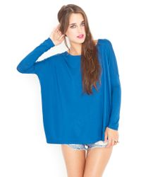 Nasty Gal | Blue Bamboo Scoop Top - Peacock | Lyst