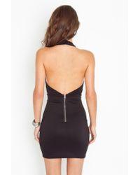Nasty Gal | Black Caged Halter Dress | Lyst