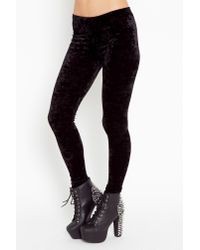 Nasty Gal | Crushed Velvet Leggings - Black | Lyst