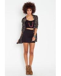 Nasty Gal - Black Zee Gee Why Meet My Mum Denim Skirt - Lyst