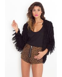 Nasty Gal | Black Shaggy Knit | Lyst