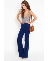 Nasty Gal | Blue Corduroy Flare Jeans | Lyst