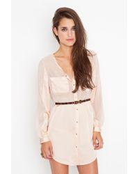 Nasty Gal | Pink Blushing Shirtdress | Lyst