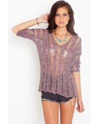 Nasty Gal | Purple Marcella Slashed Knit - Amethyst | Lyst
