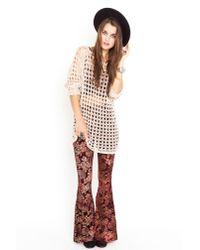 Nasty Gal | Brown Henna Velvet Flare Pants | Lyst