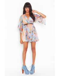 Nasty Gal | Brown Rainbow Daze Dress | Lyst