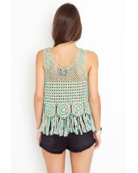 Nasty Gal | Green Candy Crochet Tank | Lyst