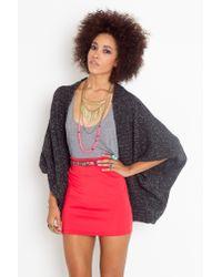 Nasty Gal | Gray Marley Knit Cardi | Lyst