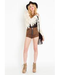 Nasty Gal   Natural Crochet Fringe Jacket   Lyst
