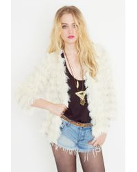 Nasty Gal | Natural Sonia Shag Jacket | Lyst