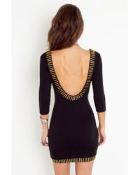 Nasty Gal | Gold Rush Dress - Black | Lyst