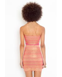 Nasty Gal | Pink Sweet Bandage Dress | Lyst