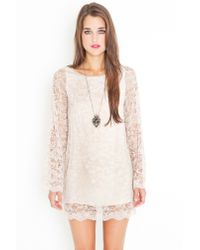 Nasty Gal - White 60s Lace Shift Dress  - Lyst