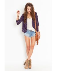 Nasty Gal - Blue Starry Night Jacket - Lyst