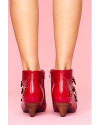 Nasty Gal - Starburst Stud Boot - Red - Lyst