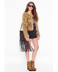 Nasty Gal | Brown Kate Faux Fur Coat | Lyst