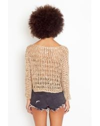 Nasty Gal | Brown Bolinas Crop Knit - Taupe | Lyst