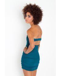 Nasty Gal | Blue Colette Chiffon Dress | Lyst