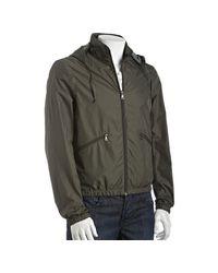 Prada | Green Sport Military Nylon Windbreaker Jacket for Men | Lyst