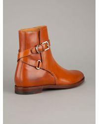 Ralph Lauren Collection | Brown Quinta Calfskin Ankle Boot | Lyst
