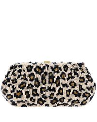 Santi | Multicolor Leopard Print Beaded Clutch Bag | Lyst