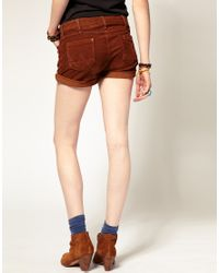 Wrangler | Brown Cord Shorts | Lyst